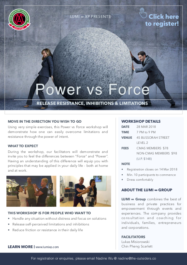 Leadership Workshop: Power Vs Force (Cancelled)