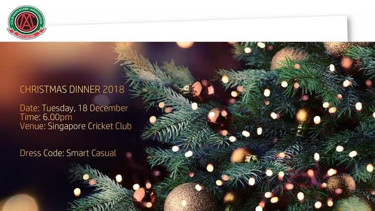 Invitation to the Annual CMAS Christmas Dinner2018