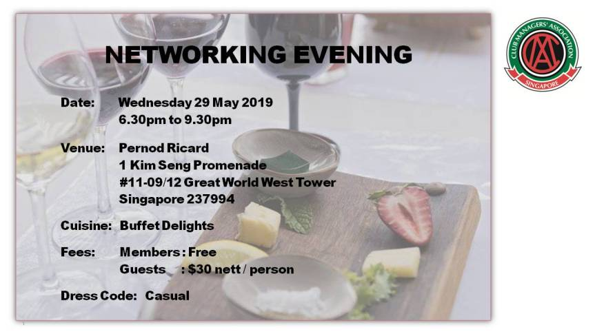 Invitation for Networking Evening